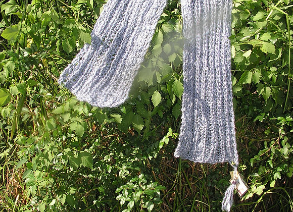 Dyed Mohair Scarf with Amethyst