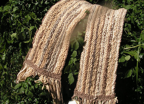 Wool Scarf Natural and Dyed Colours