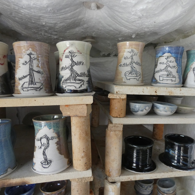 Fired pottery about to be unpacked.
