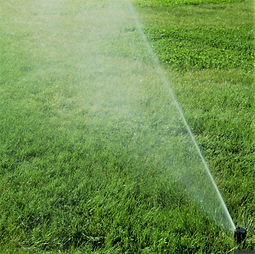 sprinkler irrigation system installation