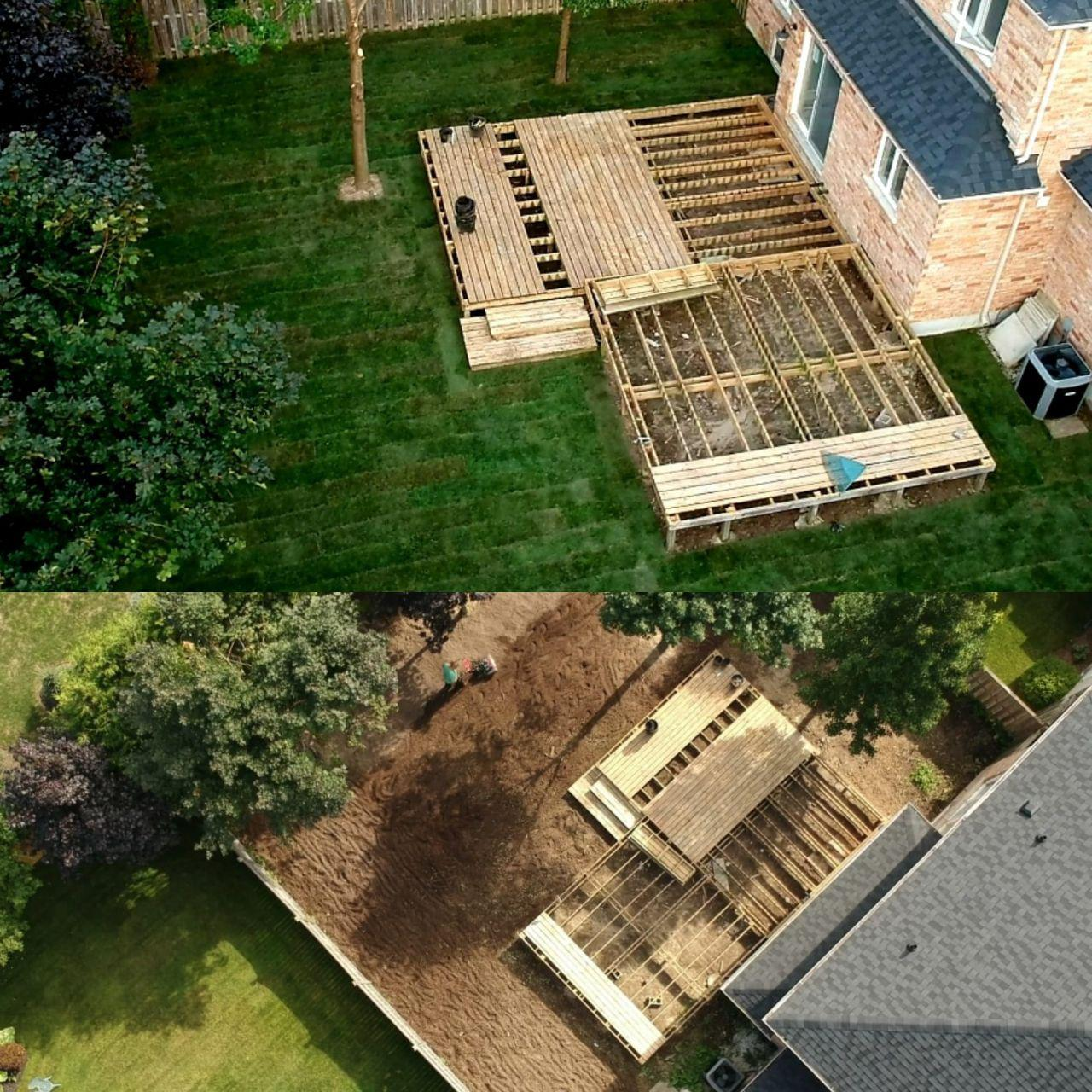 sodding before and after from drone