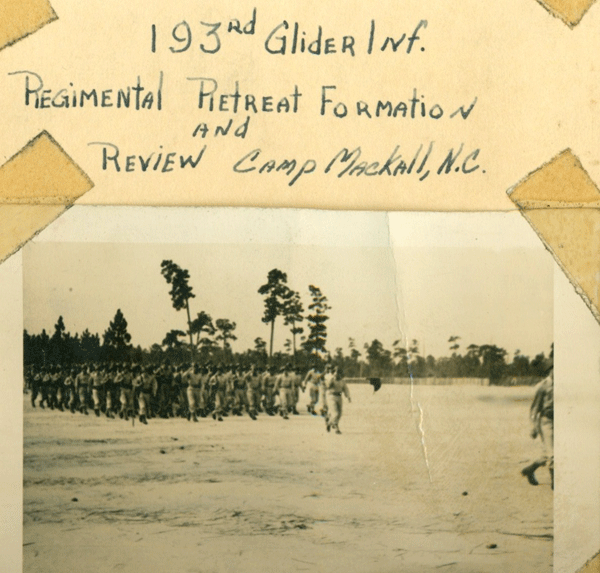 193rd Regimental Retreat Formation