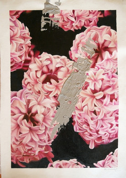 1st TRUSTS16-18 Art_$450_Rebecca Hazard_Grey smear on Hyacinths W