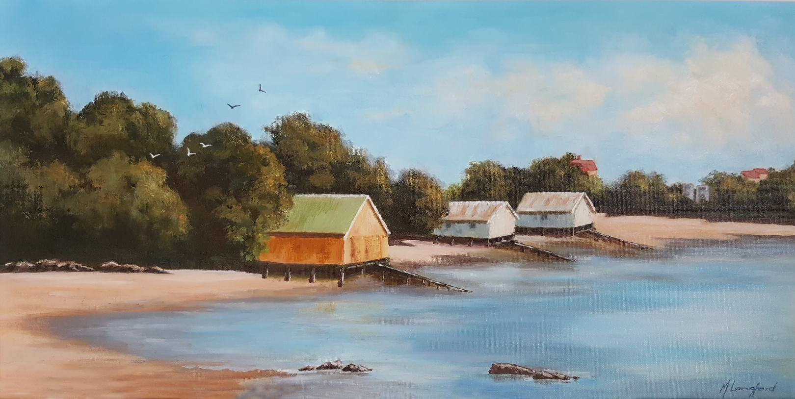 Maureen Langford_Boatsheds Herne Bay