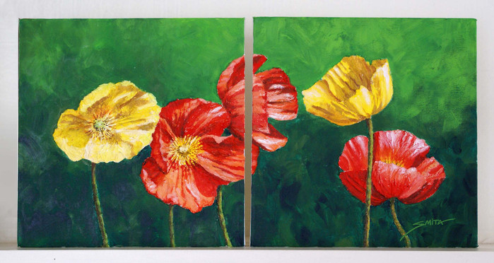 Poppies (Dyptich)