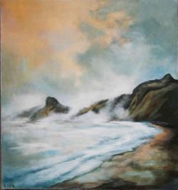 Lynette McKinstrie-Sea Fog over Taupo Bay-$395.jpg
