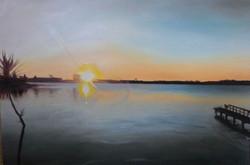 16-18 ART_Molly Timmins_Takapuna Sunset_$650