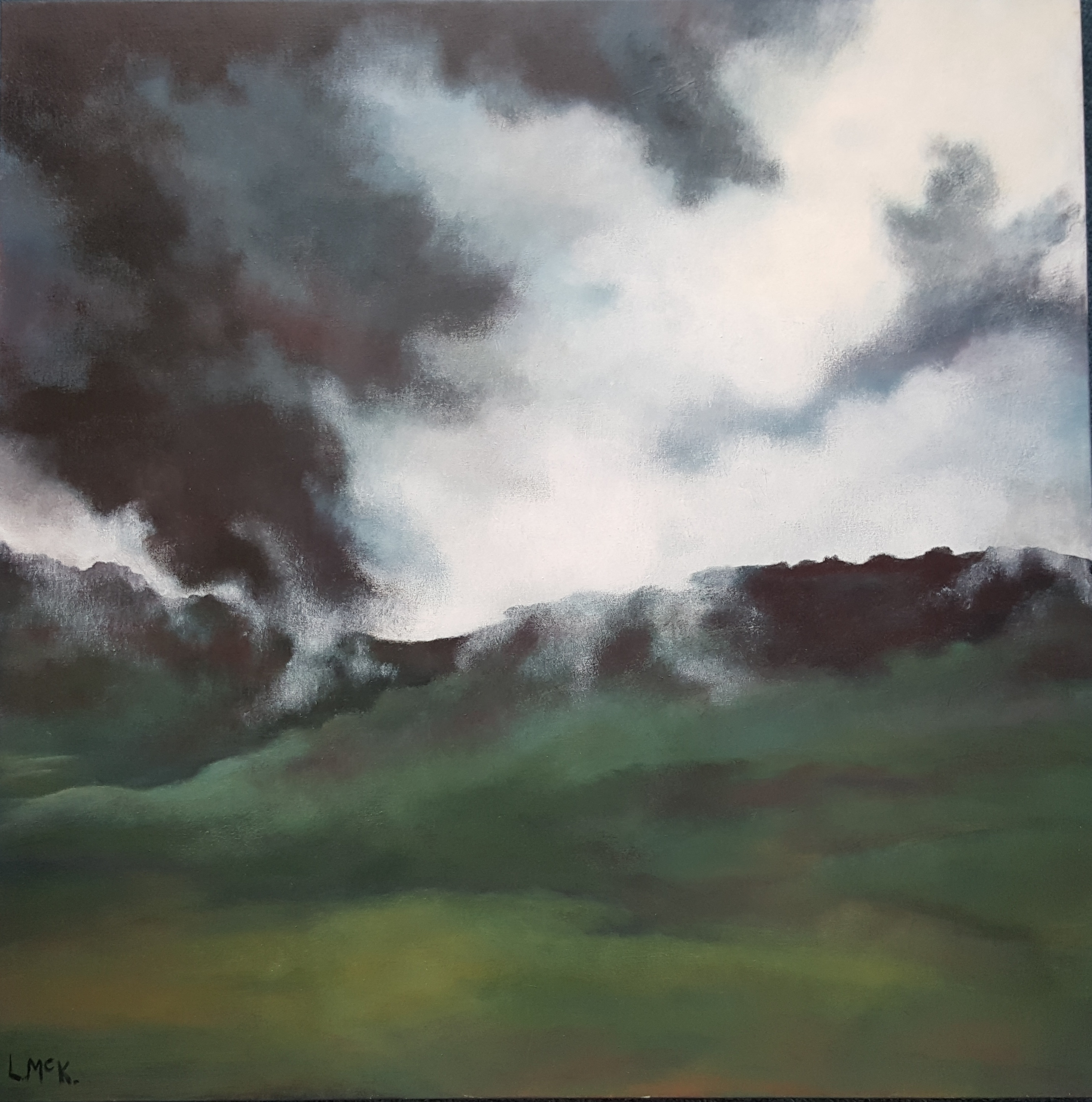 Lynette McKinstrie-Forboding Sky-Ptng in Acrylic-$485