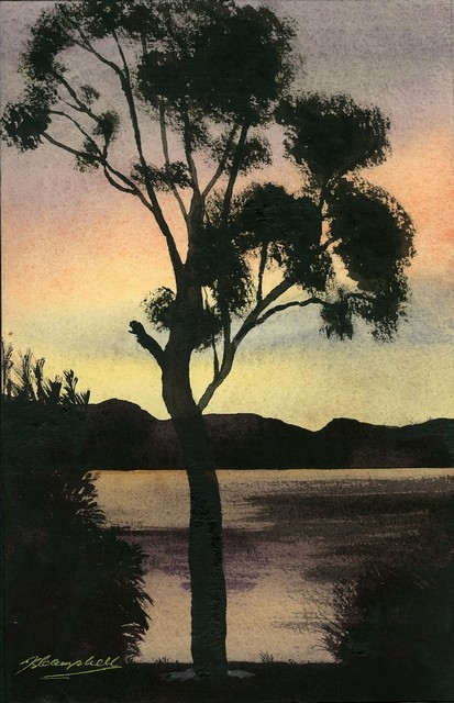 John Campbell-Dusk over the Manukau W