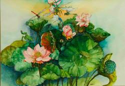 Diana Won-Lotus Frog&Dragonfly-$900.jpg