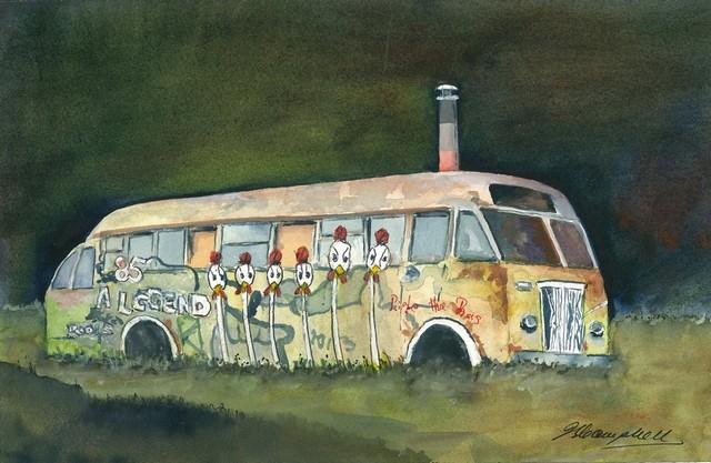 John Campbell-Old Housebus, Tarawera W