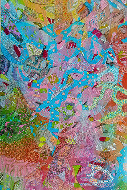 ABSTRACT MERIT_$500 Voucher DRAW ART SUPPLIES_Linda Dixon_We Can't Help It It's in Our D.N.A. W