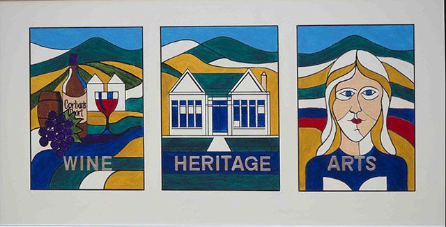 ART-Brian Marsom-Three Stained Glass Windows-