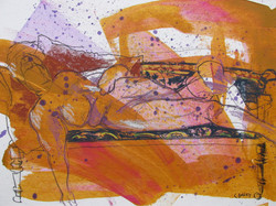 ART_Chris Barry_Reclining nude with Hat_$340