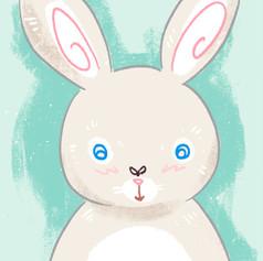Lille Hasse Hare har en fluga på sin näsa