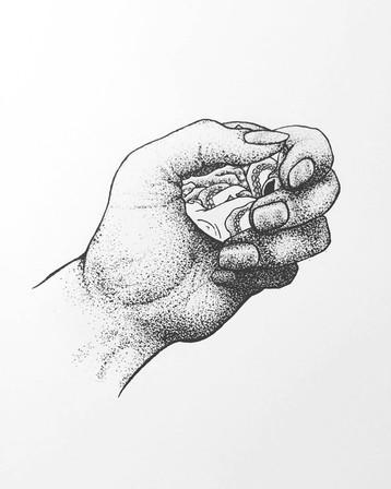 Hand with Hokusai