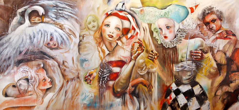 Acrylic on canvas 145x315cm