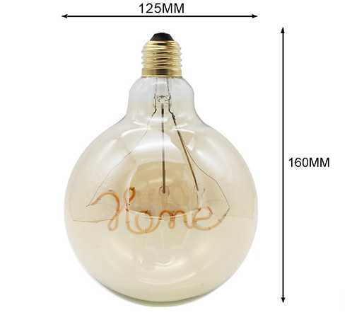 Home LED edison pære G125