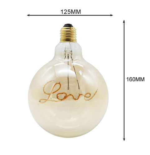 Love LED edison pære G125