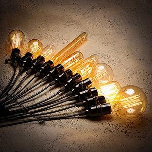 Edison pærer, pære, vintage, lamper