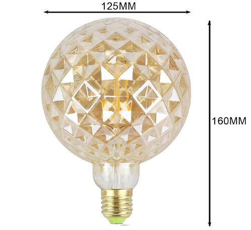 Krystal LED edison pære G125