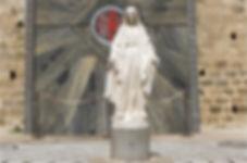 Статуя девы Марии, Храм Благовещения, Назарет, Израиль, путешествие по Израилю, паломнические туры