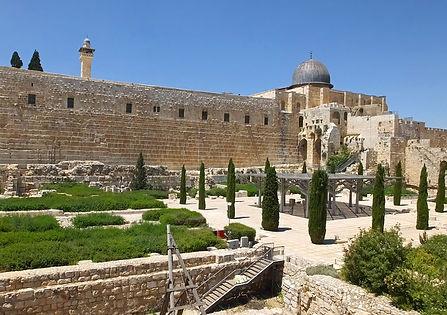 мечеть Аль-Акса, храмовая гора, центр Дэвидсон, старый город, Иерусалим, Израиль