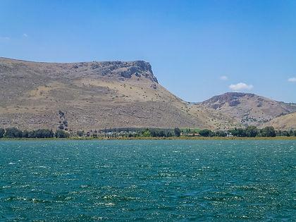 гора Арбель, озеро Кинерет, Галилейское море, Нижняя Галилея, Израиль