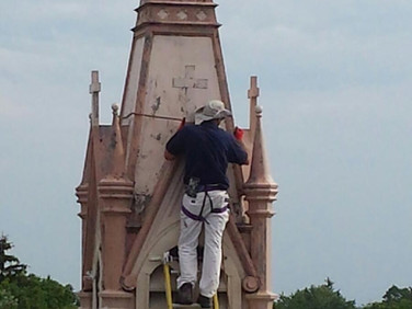 Painting the Church Steeple