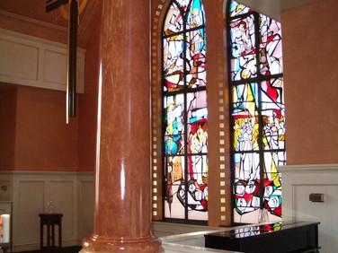 Rose Marbeled Columns