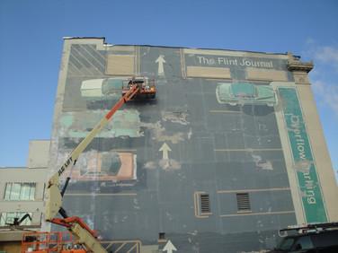 Overflow Mural Before