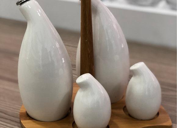 Porselen  Standlı Yağdanlık Seti