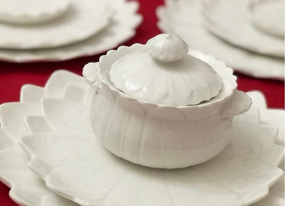 Porselen Papatya Şekerlik