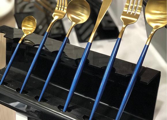 36 Parça Çatal Kaşık Bıçak Seti Mavi