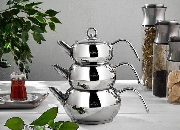 Karaca 3D Çelik Çaydanlık