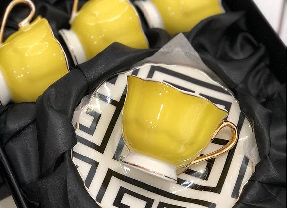 Versace Fincan Seti Sarı
