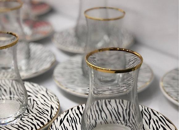 6 Kişilik 12 Parça Çay Seti Zebra