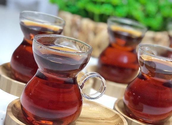 Borosilikat Cam 6 Adet Çay  Bardak