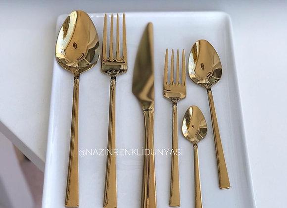 36 Parça Gold Çatal Kaşık Seti