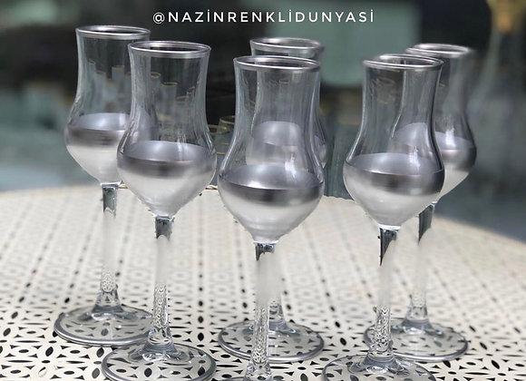 6 Adet Paşabahçe Gümüş Kahve Yanı Bardak