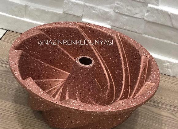 Döküm Kek Kalıbı 24 Cm Bronz