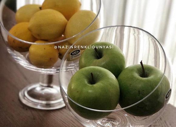 Ayaklı orta boy elma Kase