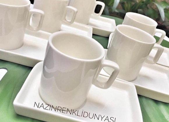 Porselen 2'Li Türk Kahvesi Fincanı