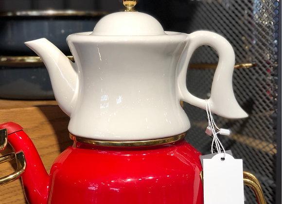 Porselen Emaye Çaydanlık
