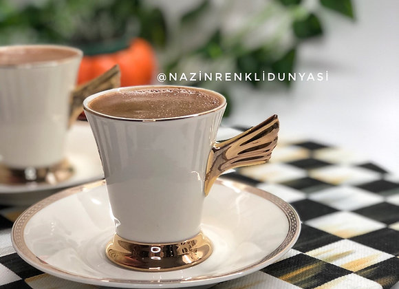 Porselen Kahve Fincanı 6 Kişilik