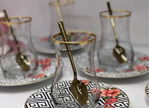 6 Kişilik 12 Parça Çay Seti Çiçek