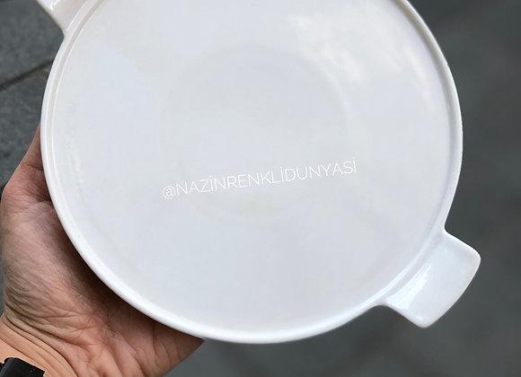 Porselen Oval Sunum Küçük