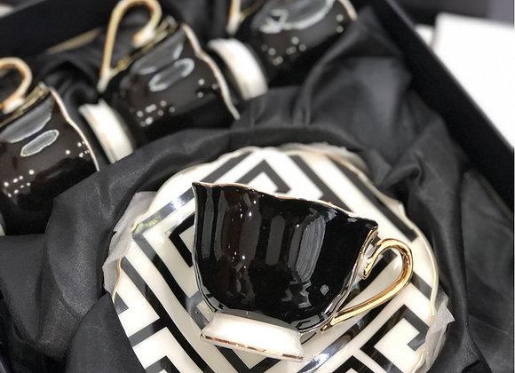 Versace Fincan Seti Siyah