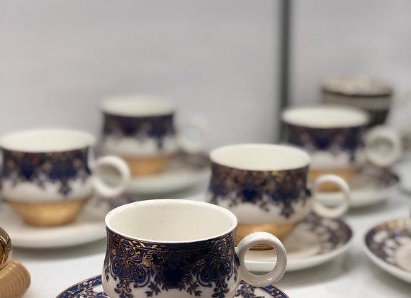Porselen 6 Kişilik Türk kahvesi Fincanı