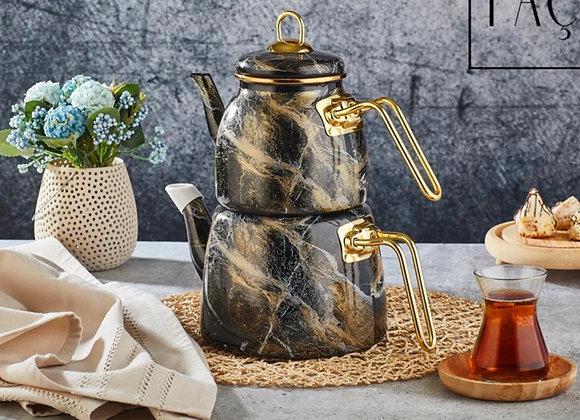 Emaye Çaydanlık Mermer
